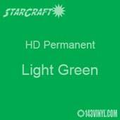 """OUTLET - 12"""" x 20"""" Sheet - StarCraft HD Glossy Permanent Vinyl - Light Green"""