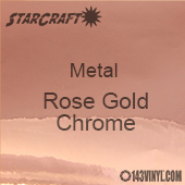 "12"" x  24"" Sheet - StarCraft Metal - Rose Gold Chrome"