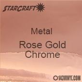 "12"" x 12"" Sheet - StarCraft Metal- Rose Gold Chrome"