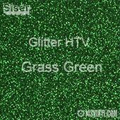 "Glitter HTV: 12"" x 5 Yard Roll - Grass Green"