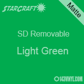 "12"" x 12"" Sheet -StarCraft SD Removable Matte Adhesive - Light Green"