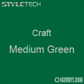"Styletech Craft Vinyl - Medium Green- 12"" x 24"" Sheet"