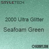 """StyleTech 2000 Ultra Glitter - 160 Sea Foam Green - 12""""x24"""" Sheet"""