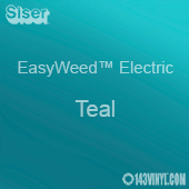 "12"" x 15"" Sheet Siser EasyWeed Electric HTV - Teal"