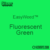 """EasyWeed HTV: 15"""" x 5 Yard - Fluorescent Green"""