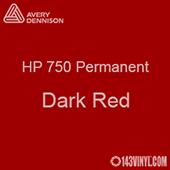 """Avery HP 750 - Dark Red- 12"""" x 5 Foot"""
