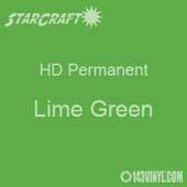 "12"" x 12"" Sheet - StarCraft HD Glossy Permanent Vinyl - Lime Green"