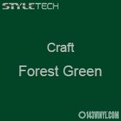 """Styletech Craft Vinyl - Forest Green- 12"""" x 24"""" Sheet"""
