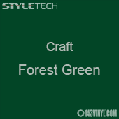 "Styletech Craft Vinyl - Forest Green- 12"" x 5 Foot"