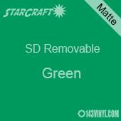 "12"" x 24"" Sheet -StarCraft SD Removable Matte Adhesive - Green"