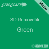 """12"""" x 10 Yard Roll  -StarCraft SD Removable Matte Adhesive - Green"""