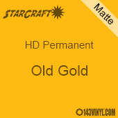 "12"" x 5' Roll - StarCraft HD Matte Permanent Vinyl - Old Gold"