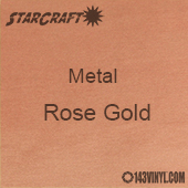 """12"""" x  24"""" Sheet - StarCraft Metal - Brushed Rose Gold"""