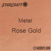 """12"""" x 12"""" Sheet - StarCraft Metal- Brushed Rose Gold"""
