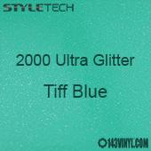 "StyleTech 2000 Ultra Glitter - 166 Tiff Blue - 12""x12"" Sheet"