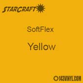 "12"" x 24"" Sheet StarCraft SoftFlex HTV - Yellow"