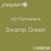 "12"" x 10 Yard Roll - StarCraft HD Glossy Permanent Vinyl - Swamp Green"