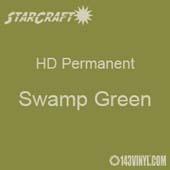 "12"" x 24"" Sheet - StarCraft HD Glossy Permanent Vinyl - Swamp Green"