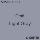 "Styletech Craft Vinyl - Light Gray- 12"" x 5 Foot"