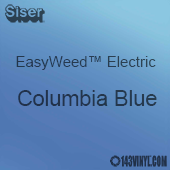 """12"""" x 15"""" Sheet Siser EasyWeed Electric HTV - Columbia Blue"""