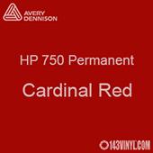 """Avery HP 750 - Cardinal Red- 12"""" x 24"""" Sheet"""