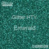 """Glitter HTV: 12"""" x 5 Yard Roll - Emerald"""