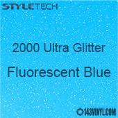 """StyleTech 2000 Ultra Glitter - 163 Fluorescent Blue - 12""""x24"""" Sheet"""