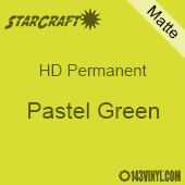 "12"" x 10 Yard Roll - StarCraft HD Matte Permanent Vinyl - Pastel Green"