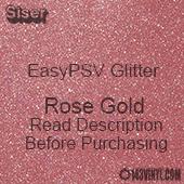 """Siser EasyPSV Glitter - Rose Gold (44) - 12"""" x 12"""" Sheet"""