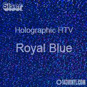 "12"" x 20"" Sheet Siser Holographic HTV - Royal Blue"