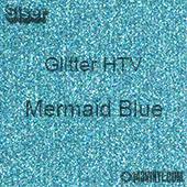 "Glitter HTV: 12"" x 5 Yard Roll - Mermaid Blue"