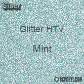 "Glitter HTV: 12"" x 20"" - Mint"
