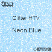"Glitter HTV: 12"" x 5 Yard Roll - Neon Blue"