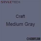 "Styletech Craft Vinyl - Medium Gray- 12"" x 24"" Sheet"