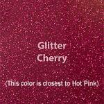 """Glitter HTV: 12"""" x 20"""" - Cherry"""