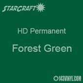 "12"" x 5' Roll - StarCraft HD Glossy Permanent Vinyl - Forest Green"