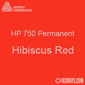 "Avery HP 750 - Hibiscus Red- 12"" x 24"" Sheet"