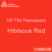 "Avery HP 750 - Hibiscus Red- 12"" x 12"" Sheet"