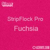 "12"" x 15"" Sheet Siser Stripflock Pro HTV - Fuchsia"