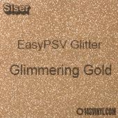 """Siser EasyPSV Glitter - Glimmering Gold (12) - 12"""" x 12"""" Sheet"""