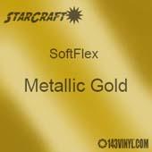 "12"" x 5 Yard Roll - StarCraft SoftFlex HTV - Metallic Gold"
