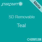 """12"""" x 10 Yard Roll  -StarCraft SD Removable Matte Adhesive -Teal"""