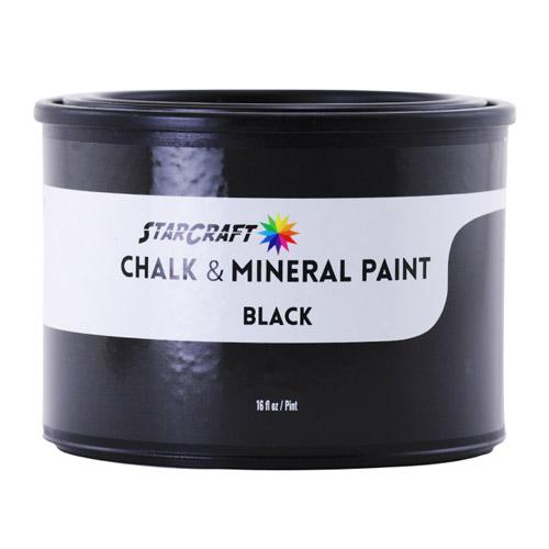 StarCraft Chalk & Mineral Paint - Pint, 16oz -Black