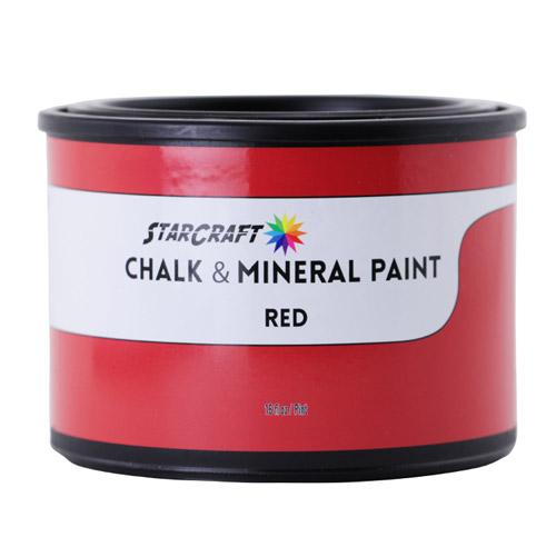 StarCraft Chalk & Mineral Paint - Pint, 16oz-Red