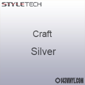 "Styletech Craft Vinyl - Silver- 12"" x 24"" Sheet"