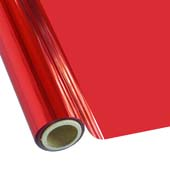 """25 Foot Roll of 12"""" StarCraft Electra Foil - Red"""