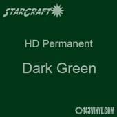 "12"" x 5' Roll - StarCraft HD Glossy Permanent Vinyl - Dark Green"