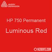 """Avery HP 750 - Luminous Red- 12"""" x 5 Foot"""