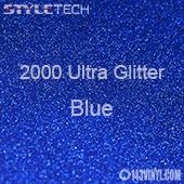 "StyleTech 2000 Ultra Glitter - 130 Blue - 12""x24"" Sheet"