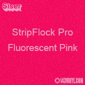 "12"" x 15"" Sheet Siser Stripflock Pro HTV - Fluorescent Pink"